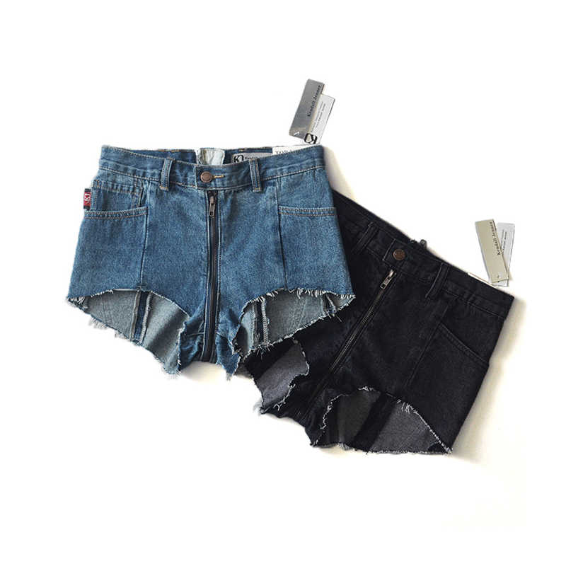 aac5f182d Female ripped hole fringe blue loose denim shorts women Casual pocket jeans  shorts 2016 summer girl