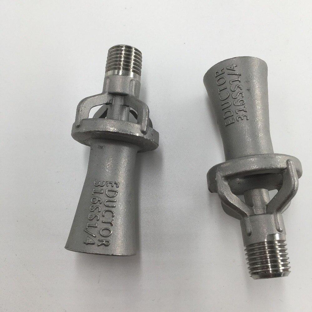 "1//4/"",3//8/"",1//2/"",3//4/"",1/"",1.5/""Stainless steel industrial venturis eductor nozzle"