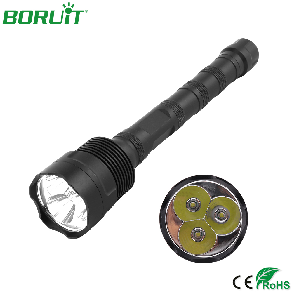 BORUiT High Power 3 XML T6 LED Flashlight 5 Modes Portable Tactical Flash Light Waterproof Camping Hunting Lantern Torch Light 3800 lumens xm l t6 5 modes led tactical flashlight torch waterproof lamp torch hunting flash light lantern for camping
