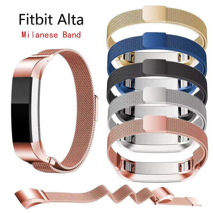 High Quality Adjustable Stainless Steel Fashion Watch Wristband Strap Men Women Band for Fitbit Alta Bracelet new 2017 stainless steel watch band wrist strap for fitbit alta smart watch high quality 0428