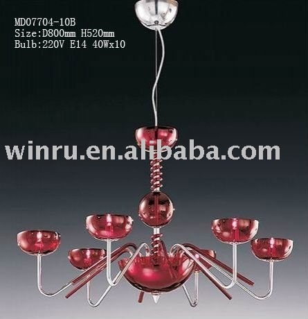 red chandeliers pendant lights D800MM,H 520MM