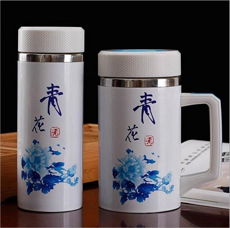 Creatvie Blue And White Porcelain Tea Drinkware Vacuum