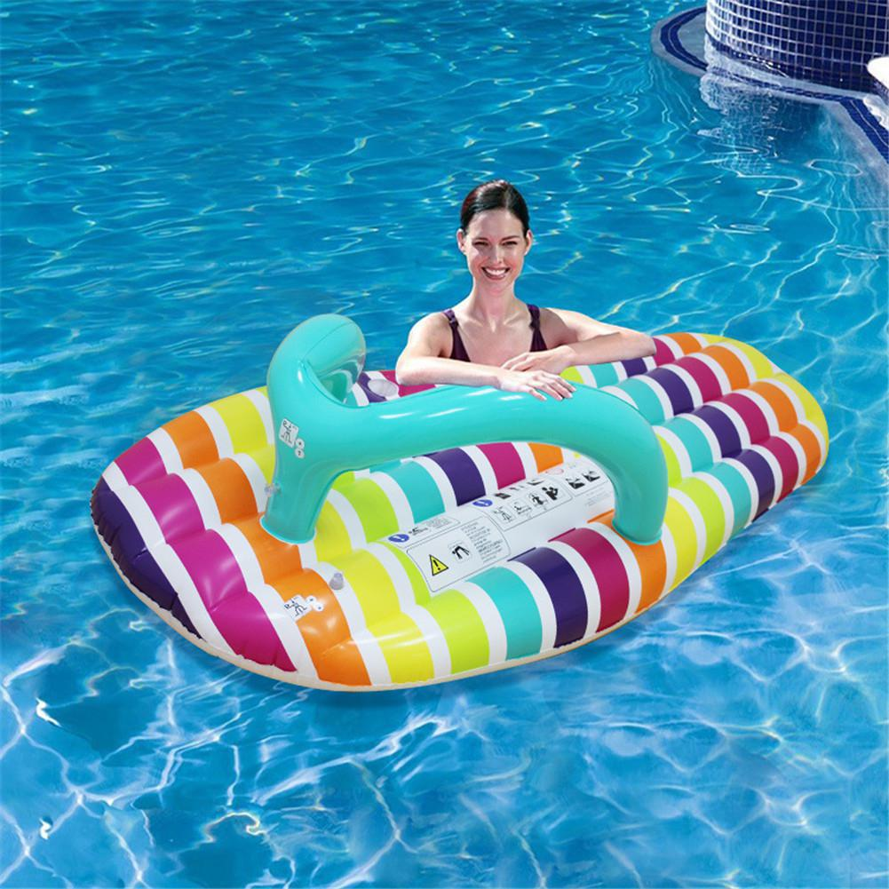 Water Hammock Lounger Rafts  Inflatable Slippers Shape Clorful Water Row Floating Bed Ride-ons For Summer Outdoor Pool Party