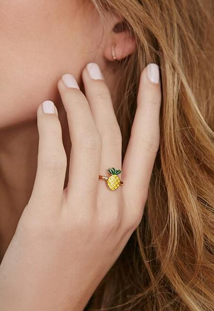Fashion  jewelry accessories   Small beautiful  pineapple  finger ring best and nice gift for women girl wholesale J-74