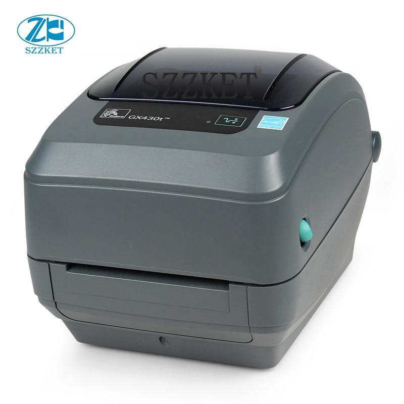 GX430 original self adhesive barcode printer GX430T label print head High speed thermal printer Desktop 300DPI