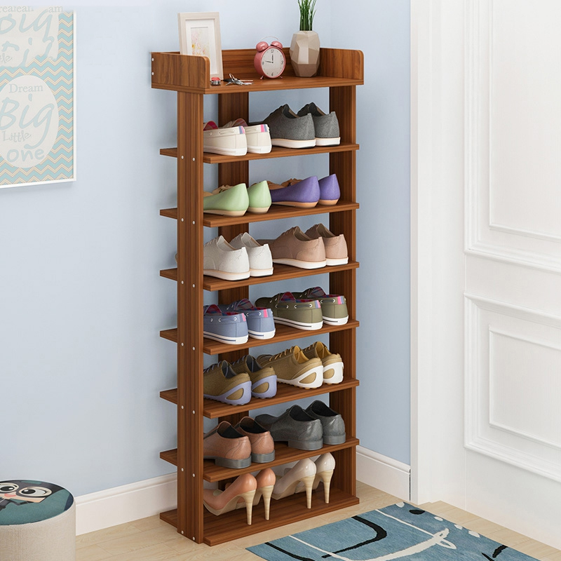 How To Make A Wooden Shoe Rack.Us 42 13 21 Off Wood Shoe Rack Easy Assemble Storage Shelf Shoe Cabinet Fashion Shoe Rack Stand Shoe Organizers Assembled Living Room Furniture In
