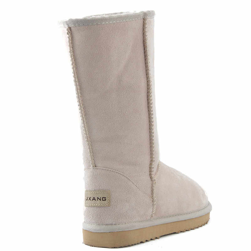 JXANG באיכות גבוהה מותג שלג מגפי נשים אופנה עור אמיתי אוסטרליה קלאסי נשים של גבוהה אתחול חורף נשים שלג נעליים