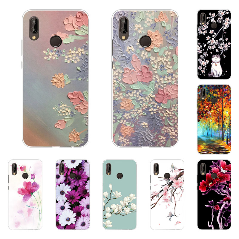 info for f6f8d 37ef1 Huawei Nova 3I Case,Silicon Full Flower Painting Soft TPU Back Cover For  Huawei Nova 3I Protect Phone Bags