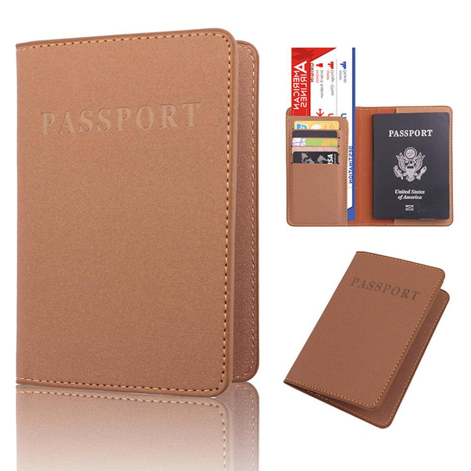 1 PC High Quality Unisex Women Men Dedicated Travel Passport Holder PU Leather Purse Cover ID Credit Card Holder Wallet Bag