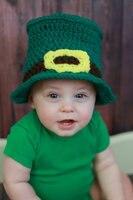 Crochet Baby Hat St Patrick S Day Irish Baby Baby Top Hat Infant Boy Hat Photography