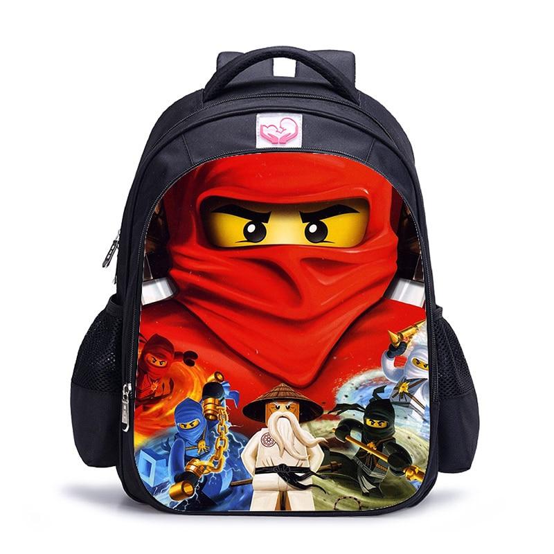 16 Inch Ninja Children School Bags Orthopedic Backpack Kids School Boys Mochila Infantil Catoon Bags