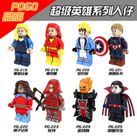 10PCS Set PG8059 Super Hero Marvel Dark Phoenix Cannonball Atom Woman Dormammu Mr Sinister DC Red