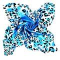[LESIDA] Mint Leopard Print Silk Scarf,China Crepe Satin Big Square 90*90Cm,Classic Fashion Shawl Hijab,Cachecol Feminino/9066