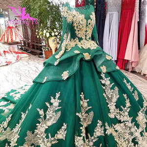 Image 3 - AIJINGYU ガーデンウェディングドレス白ガウンプラスサイズイスラム教徒高級新 Dres ゴシックゴージャスなウェディングドレス価格