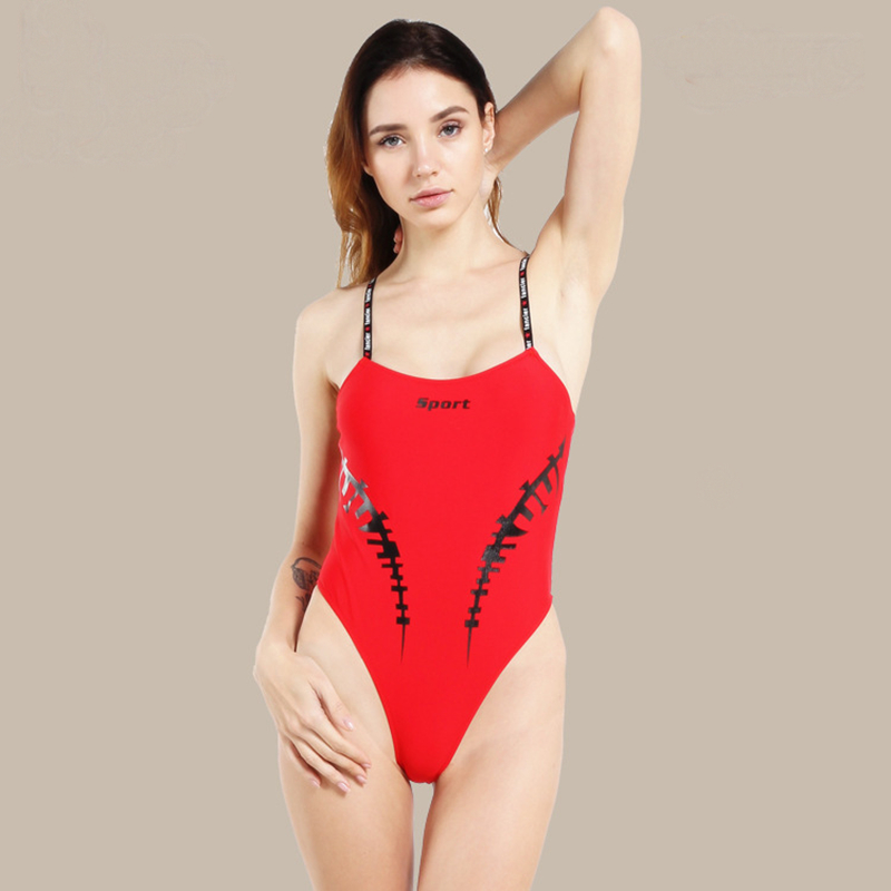 Sexy One Piece Swimsuit body suits triquini mulher 2019 swiming suit women bathing suit stroje k pielowe damskie beach dress in Body Suits from Sports Entertainment