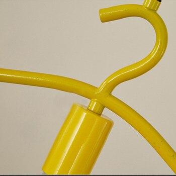 Минималистичный художественный железный подвесной светильник скандинавский креативный синий желтый подвесной светильник витрина для окн...