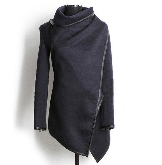 Womens/Ladies/Femininas Navy Blue Long Sleeve Poncho Cardigan ...