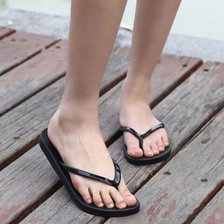 Women's Slippers Summer Flip Flops Shoes Sandals Slipper Indoor & Outdoor Unicornio Fashion Beach Flip-flops Black недорго, оригинальная цена