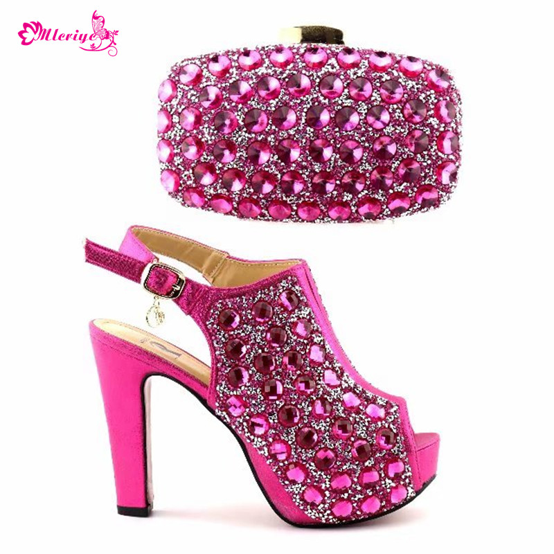 PINK Color Italian Matching Shoe and Bag Set for Wedding Shoes and Bag Set African Set 2018 Nigerian Wedding Shoes and Bag Set capputine african style shoes and bag to match high quality italian shoes and bag set nigerian party shoe and bag set wedding
