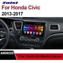 ZaiXi Auto Radio 2 Din Android Car Player For Honda Civic 2013~2017 GPS Navigation BT Wifi Map Multimedia system Stereo Radio цена в Москве и Питере