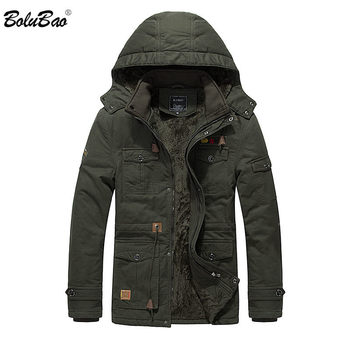 BOLUBAO Quality Men Jackets Winter Warm Men's Fashion Jacket Solid Color Hooded Clothing Casual Male Cotton Jackets