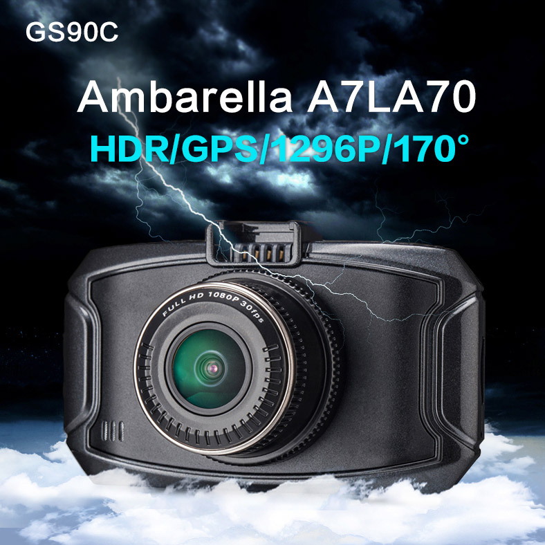 XYCING Car DVR GS90C Ambarella A7LA70 GPS Car DVR Camera GPS Logger 1296P Full HD 2.7 inch Screen 170 Degree View Angle HDR gs 6301 hd купить во владимире