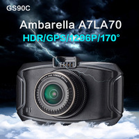 New Hot CAR DVR GS90C Ambarella A7LA70 170 Degree Super Wide Angle Lens 5 0 MP