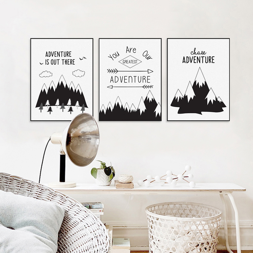 Buy morden home decor black white nordic for Prints for home decor