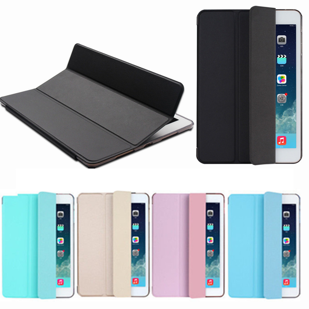 Case for iPad Air 2 / Air 1 Cover Slim Silk PU Leather+ PC Back Smart Cover for iPad Air Case Auto Sleep/Wake lichee pattern protective pu leather case stand w auto sleep cover for google nexus 7 ii white