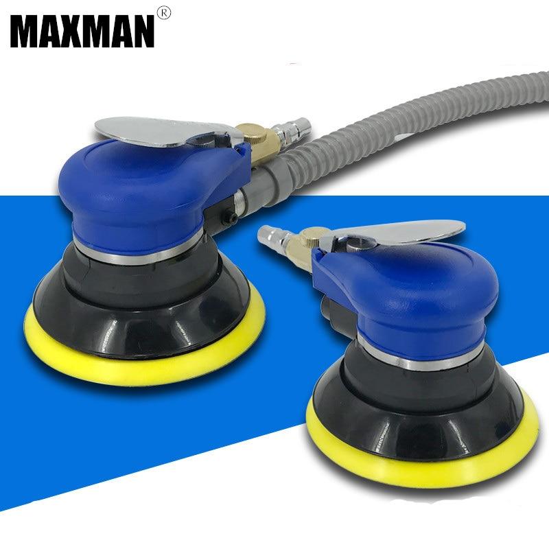 MAXMAN 5 Polegada Aleatório Lixadeira Orbital Air Para Palm & Máquina de Polimento Polidor de Carro Aspirador de pó Set Ferramenta 125mm ferramentas de poder