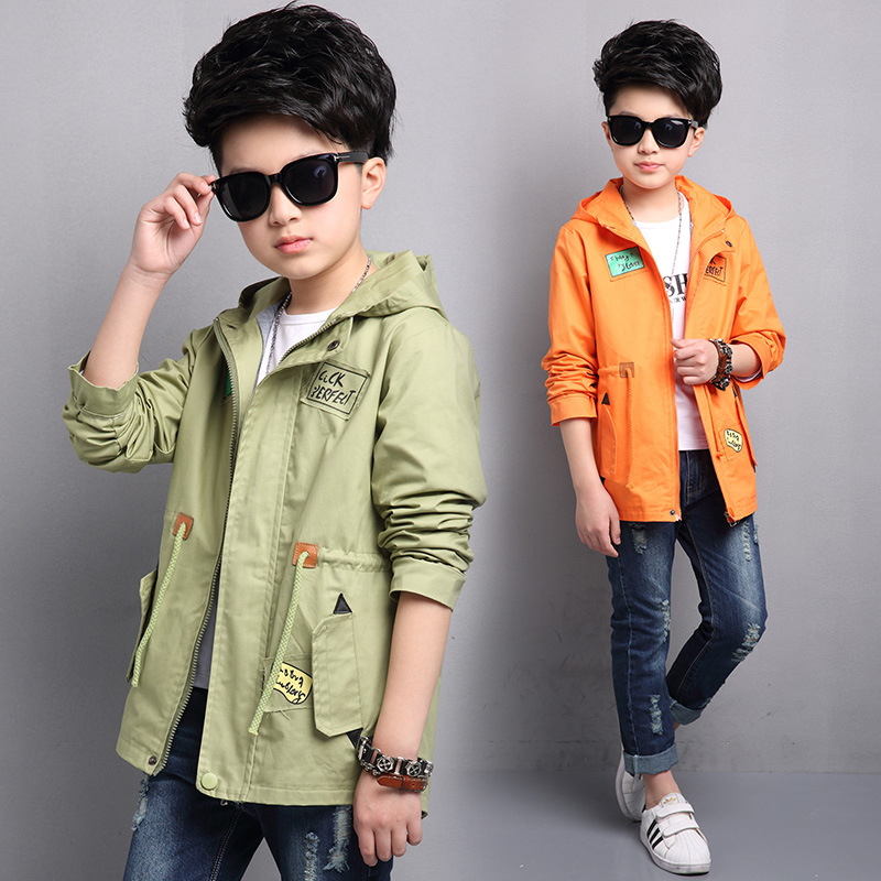 ФОТО Kids boys spring / autumn casual jacket 2017 new baby boys fashion clothing big virgin pentagram coat 4/5/6/7/8/9/10/11/12/13/14