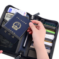 OKOKC Outdoor Travel Package Multifunctional Passport Package Waterproof Documents Folder Passport Cover Wallet Purse Organizer