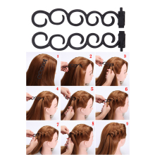 2Pcs/set Lady French Hair Braiding Tool Magic Hair