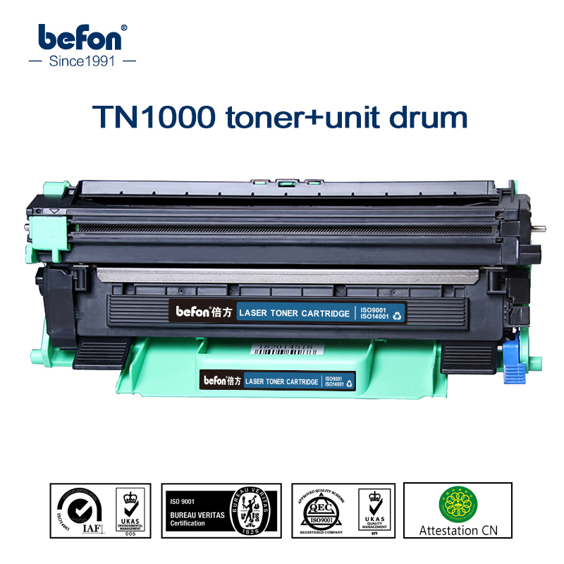 Toner Cartridge and Drum Unit Set for TN1000 TN 1000 TN1070 TN1075 TN1030 TN1095 TN1050 TN1060 for DCP-1510/1510R/ 1512/1512R