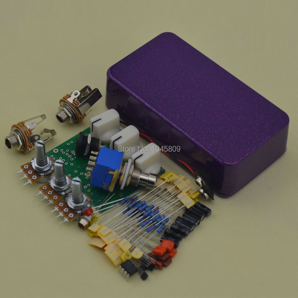 DIY Overdrive pedal Guitar Effect Pedals Electric Effects Light Flashing Purple Suite OD3 Electric guitar effects pedals diy overdrive guitar effect pedal kit true bypass with 1590b box for electric guitar stompbox pedals od1 kits