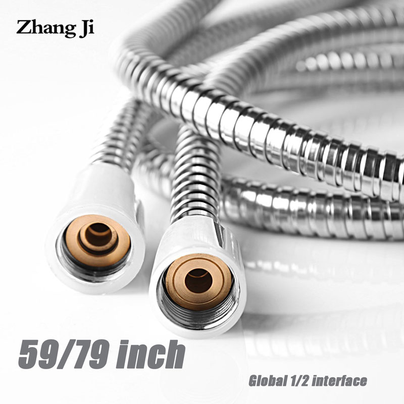 Zhangji General Flexible Soft Water Pipe 1.5m Or 2m Rainfall Common Shower Hose Chrome Plating Shower Pipe Bathroom Accessories
