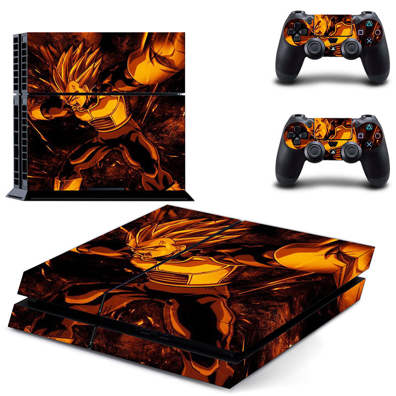 Dragon ball Z  PS4 Skin Sticker For PS4 Playstation 4 Console + Controllers Vinyl Decal