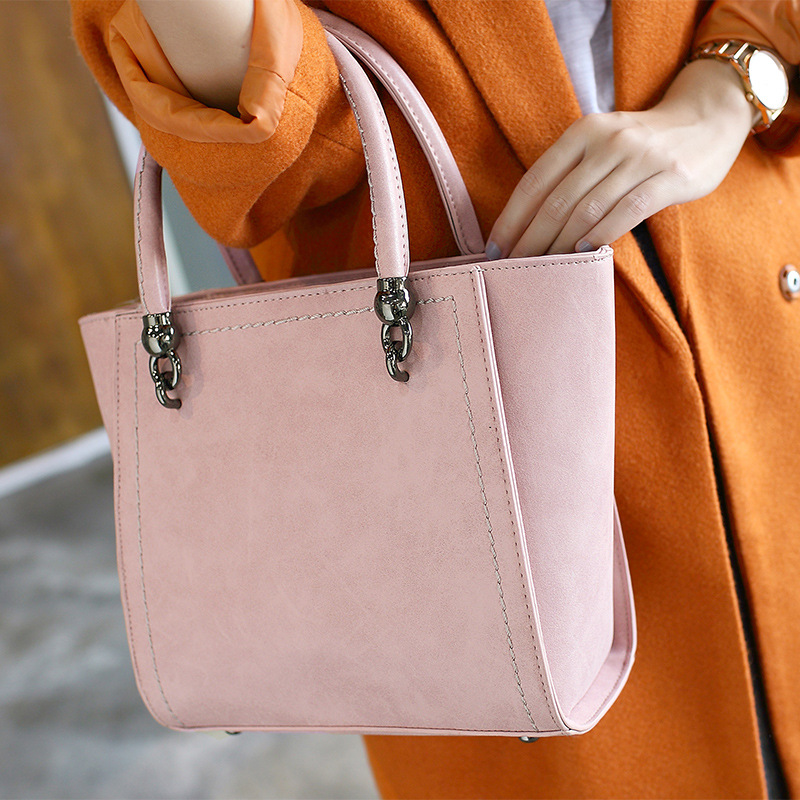 2017 New Women Messenger Bag New Arrival High Quality Nubuck Leather Top-HandleBags Simple Women Shoulder Bag