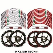 12 X Thick Edge Outer Rim Sticker Stripe Wheel Decals Motorcycle protection FIT APRILIA Dorsoduro 1200 17