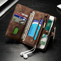 CaseMe Genuine Leather Flip Cover For Apple IPhone 7 6s 6 Plus 6Plus Second Layer Cowhide