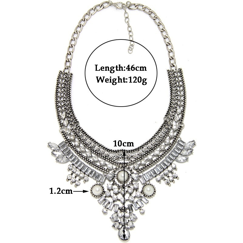 collar necklace size