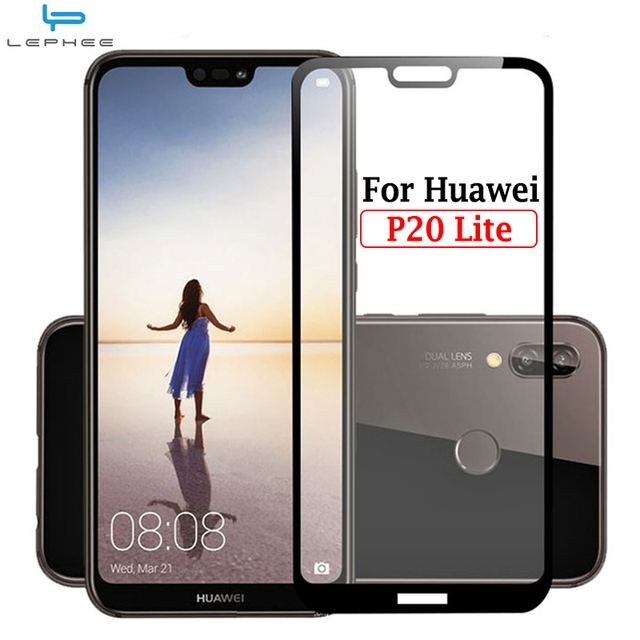 finest selection a5539 47479 US $3.48 |LEPHEE For Huawei P20 Lite Tempered Glass Screen Protector For  Huawei P 20 Lite Protective Film Nova 3E P20Lite Full Cover Glass-in Phone  ...