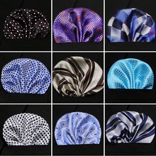 Men Handkerchief Silk Woven Plaid Floral Pattern Hanky Mens Business Casual Square Pocket Wedding Hankies