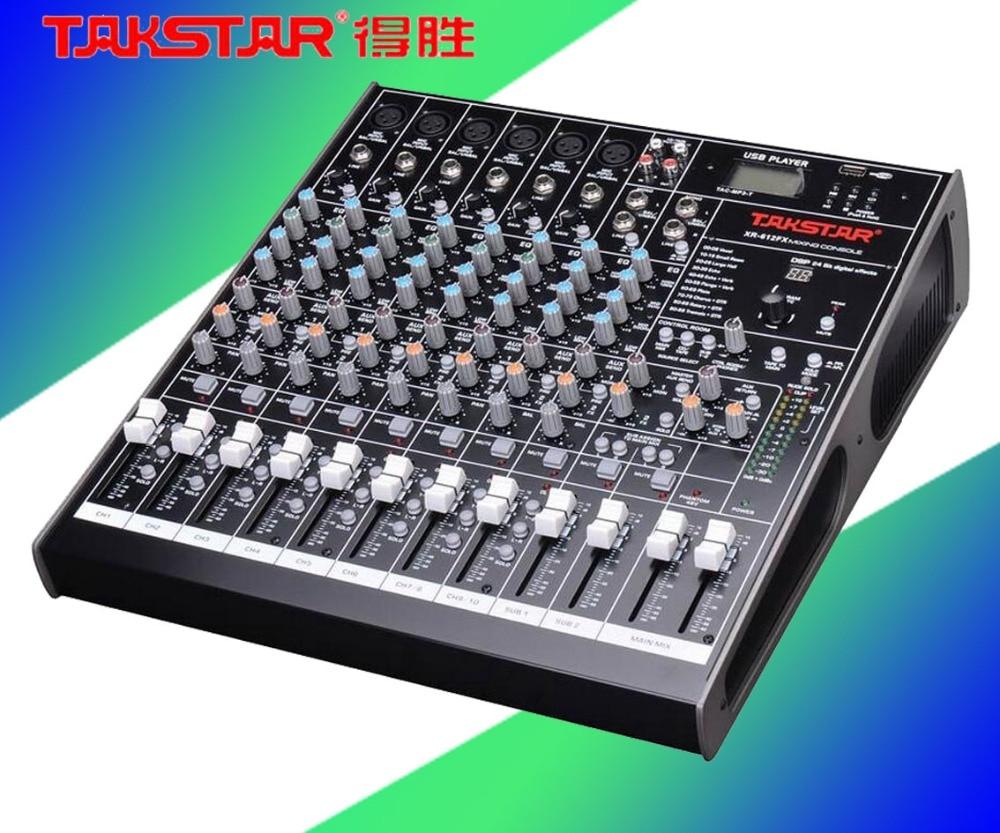 Cheaper Promotional TAKSTAR KaraOK Digital Mixing Console XR-210FX Simple Flexible Effective Mixer Console Premium 10 Input  цены