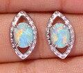 Hot ! Fashion & Elegant & Refinement & Wholesale & Retail For Women Jewelry Green Fire Opal Silver Stud Earrings 16mm OH3403