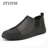 New Arrival European Men Casual Shoes For Autumn And Winter High Style All Black Fashion Boots