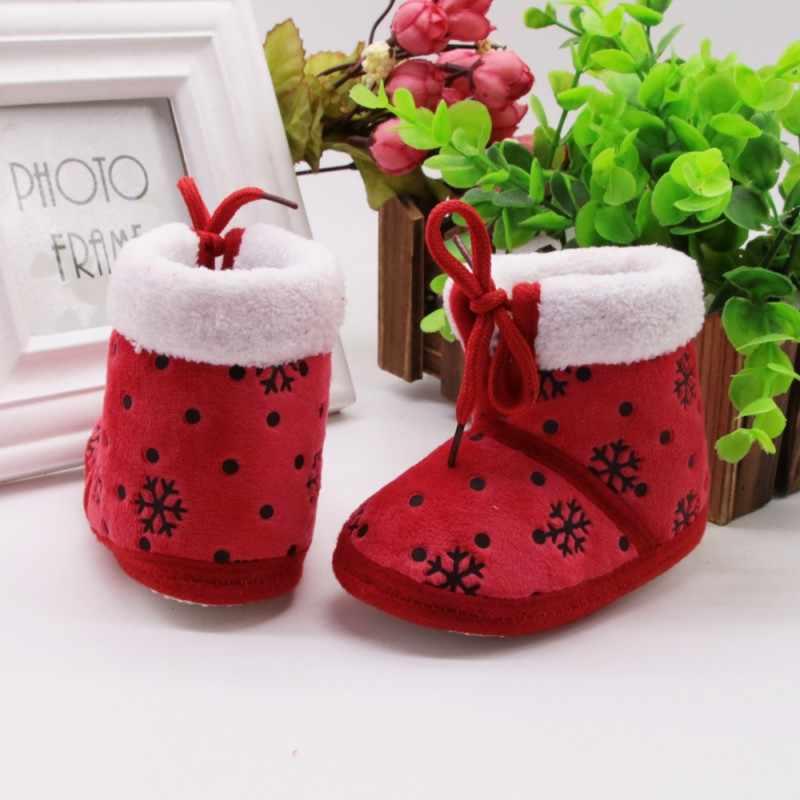 Bebek Kız Ayakkabı Çocuk Bebek Erkek Kız Kış Sonbahar Kalın Sıcak Botlar Moda buz Çiçek çocuk Ayakkabıları