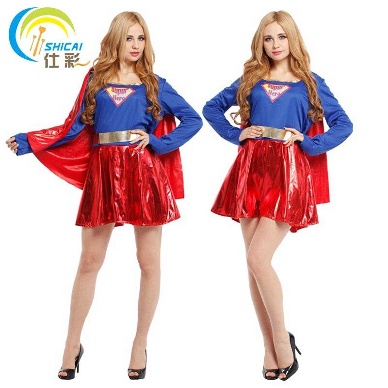superman superwoman for women girl costume superhero cosplay party activities halloween christmas carnival sexy dress up - Christmas Dress Up