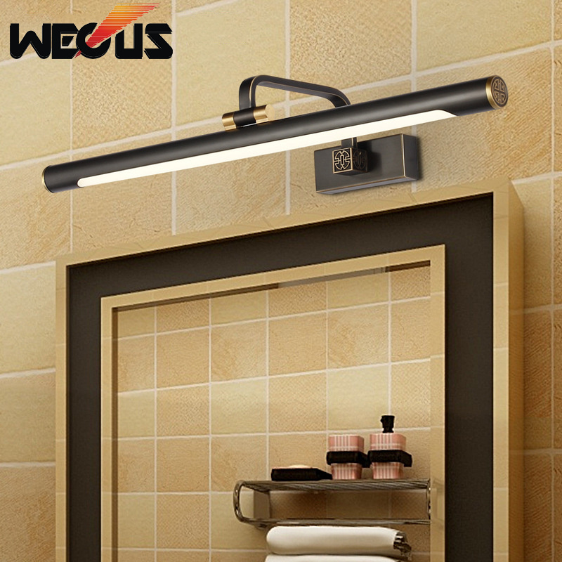 Modern led mirror headlight bathroom lamparas de pared chinese makeup wall lights waterproof toilet lamps 43cm