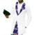 Privado personalizado hombres de la moda tops camisa de esmoquin ropa de impresión y blanco del remiendo del algodón dashiki africano para la boda/fiesta